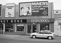 Miners strike poster, Nottingham 1985