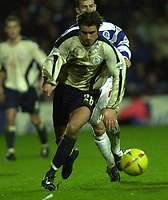 © Peter Spurrier/Sportsbeat Images <br />Tel + 441494783165 email images@sbimages.co.uk<br />29/11/2003 - Photo  Peter Spurrier<br />2003/04 Nationwide Football Div 2 QPR V Sheffield Wed<br />Wednesday's Michael Reddy attacks down the wing