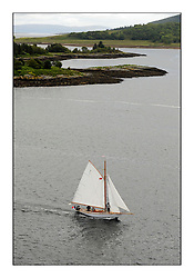Day three of the Fife Regatta, Cruise up the Kyles of Bute to Tighnabruaich<br /> <br /> Fiona, Didier Cotton, FRA, Gaff Cutter, Wm Fife 3rd, 2005<br /> <br /> * The William Fife designed Yachts return to the birthplace of these historic yachts, the Scotland's pre-eminent yacht designer and builder for the 4th Fife Regatta on the Clyde 28th June–5th July 2013<br /> <br /> More information is available on the website: www.fiferegatta.com