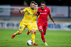 Adam Gnezda Cerin  of NK Domzale and Stephen Pisani of FC Balzan during 2nd Leg Football match between NK Domzale and FC Balzan  in First Qualifying match of UEFA Europa League 2019/2020, on July 18, 2019 in Sports park Domzale, Domzale, Slovenia. Photo by Ziga Zupan / Sportida