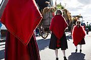 Vierländer Speeldeel De Veerlanner at the Erntedankfest (Harvest Festival) with church service and parade in Kirchwerder, Germany