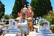 Decorative grave head stone - Naxos Greek Cyclades Islands