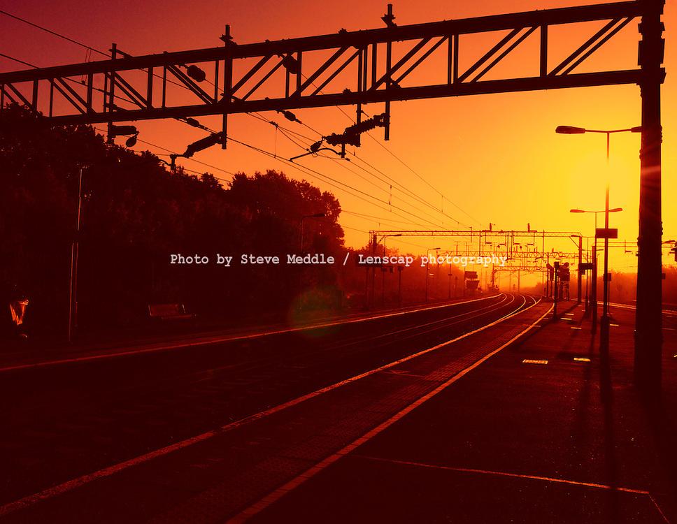 Railway Tracks at Dawn / Sunrise