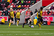 Brentford Forward Sergi Canos on the ball during the EFL Sky Bet Championship match between Brentford and Watford at Brentford Community Stadium, Brentford, England on 1 May 2021.