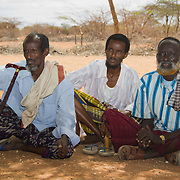 Elders meet to discuss relief distribution. Wajir, North Eastern Kenya.