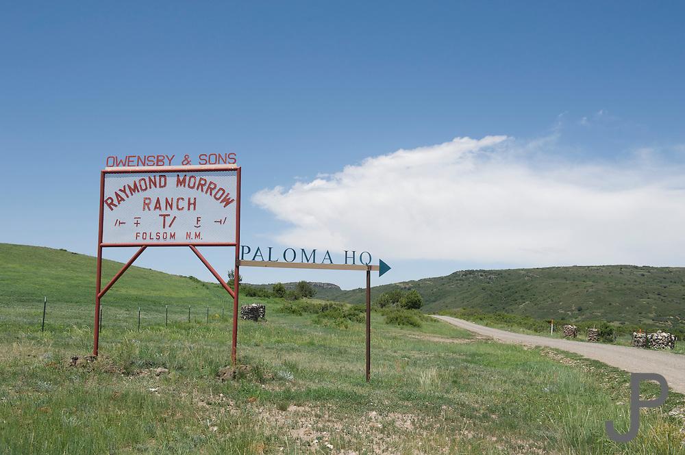 Paloma Cattle Company ranch headquarters near Folsom, New Mexico