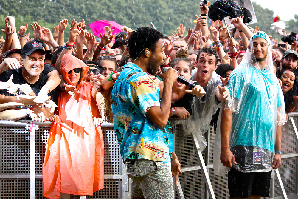 Childish Gambino performs at Lollapalooza in Chicago, IL on August 3, 2014.