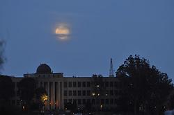 Moon Rise Over City College, San Francisco, California, US