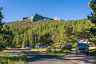 Camping in the Aspenglen campground in Rocky Mountain National Park.