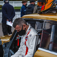 St Mary's Trophy, Saturday 15h05<br /> #32 - 1963 Studebaker Lark Daytona 500 – driver Nicolas Minassian studies the starting sheet at Goodwood SpeedWeek 16 - 18 October 2020