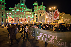 6 December 2019, Madrid, Spain: Faith-based participants from the Lutheran World Federation, the World Council of Churches and the ACT Alliance join in as thousands upon thousands of people march through the streets of central Madrid as part of a public contribution to the United Nations climate meeting COP25, urging decision-makers to take action for climate justice.