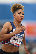 Estelle Raffai (FRA) competes on Women's 200 m during the Jeux Mediterraneens 2018, in Tarragona, Spain, Day 7, on June 28, 2018 - Photo Stephane Kempinaire / KMSP / ProSportsImages / DPPI