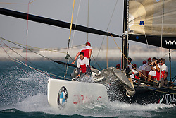 Artemis Racing (SWE) versus BMW Oracle Racing (USA), RR1. BMW Oracle Racing wins both matches. Dubai, United Arab Emirates, November 15th 2010. Louis Vuitton Trophy  Dubai (12 - 27 November 2010)  Sander van der Borch / Artemis Racing