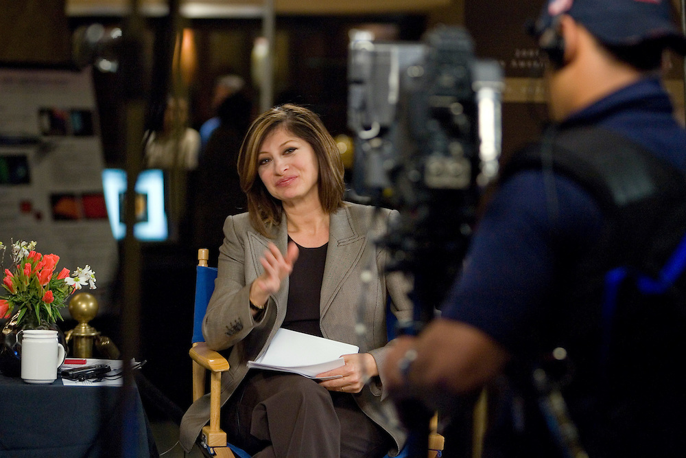 """CNBC Anchor/Editor Maria Bartiromo does her show """"Closing Bell"""" live from the 2008 National Summit on American Competitiveness."""