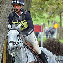 Andrew Nicholson Badminton horse trials England Gloucester UK May 2019. Andrew Nicolson riding Swallow springs representing New Zealand at the main equestrian event Badminton horse trials 2019 Badminton Horse trials 2019 Winner Piggy French wins the title