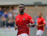 Football - 2021 / 2022 Emirates FA Cup - First Round Qualifying - Bootle vs. FC United of Manchester - Berry Street Garage Stadium - Saturday 4th September 2021<br /> <br /> Cedric Main of FC United of Manchester scored two first half goals to put his side 2-0 up at the break, at the Berry Street Garage Stadium.<br /> <br /> COLORSPORT/Alan Martin