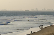 Hazy Day on the Beach in Huntington Beach California