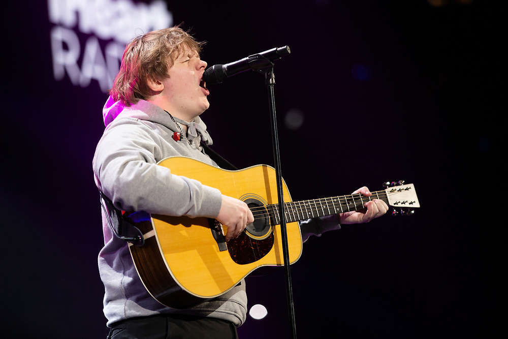 Lewis Capaldi performing at the iHeartRadio Jingle Ball at the Allstate Arena in Rosemont, IL.