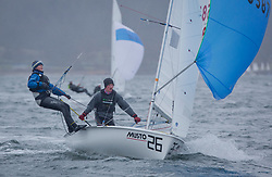 The annual RYA Youth National Championships is the UK's premier youth racing event. Day 3 with winds backing to the North the racing started on the Largs Channel.<br /> <br /> 55871, Alex Colquitt, Rebecca Coles, WKSC/ASC, 420 Mixed <br /> <br /> Images: Marc Turner / RYA<br /> <br /> For further information contact:<br /> <br /> Richard Aspland, <br /> RYA Racing Communications Officer (on site)<br /> E: richard.aspland@rya.org.uk<br /> m: 07469 854599