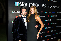 SANTA ANA, CA - OCT 10: Venezuelan model and actress Marjorie de Sousa poses with Para Todos editor Francis Bertrand during Para Todos Magazine 20th Anniversary Gala at the Bower Museum on 10th of October, 2015 in Santa Ana, California. Byline, credit, TV usage, web usage or linkback must read SILVEXPHOTO.COM. Failure to byline correctly will incur double the agreed fee. Tel: +1 714 504 6870.