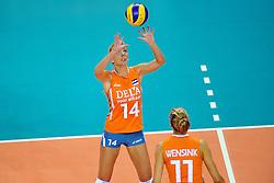 18-09-2011 VOLLEYBAL: DELA TROPHY NEDERLAND - TURKIJE: ALMERE<br /> Nederland wint met 3-0 van Turkije en wint hierdoor de DELA Trophy / Laura Dijkema<br /> ©2011-FotoHoogendoorn.nl