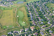 Aerial view of the Hawks Landing Golf Course and neighborhood, Madison, Wisconsin.
