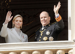 November 19, 2019, Monaco, Monaco: 19-11-2019 Monte Carlo Prince Albert II of Monaco and Princess Charlene during the Monaco national day celebrations in Monaco. (Credit Image: © face to face via ZUMA Press)