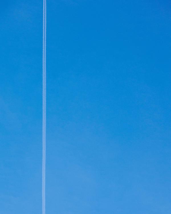 Jet-stream in a blue sky