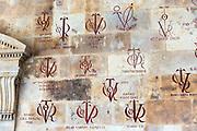 Tutors wall at University of Salamanca, Faculty of Philology - Languages in Plaza de Anaya, Spain