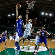 Anadolu Efes's Cedi Osman (L) during their Turkish Basketball League match Darussafaka Dogus between Anadolu Efes at Ayhan Sahenk Arena in Istanbul Turkey on Monday 11 January 2016. Photo by Aykut AKICI/TURKPIX