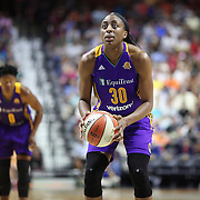 UNCASVILLE, CONNECTICUT- JULY 15: Nneka Ogwumike #30 of the Los Angeles Sparks shoots a free throw during the Los Angeles Sparks Vs Connecticut Sun, WNBA regular season game at Mohegan Sun Arena on July 15, 2016 in Uncasville, Connecticut. (Photo by Tim Clayton/Corbis via Getty Images)