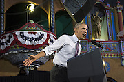 July 30, 2014 - Parkville, Missouri, U.S. - <br /> <br /> President Obama Visits Kansas City<br /> <br /> President BARACK OBAMA rallies support for his economic policies at the Uptown Theatre. Obama expressed worry in his speech about the nation's gap between rich and poor.<br /> ©Exclusivepix