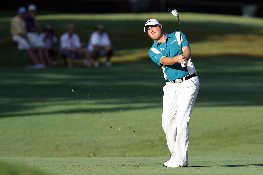 10 August 2007: Graeme Storm hits an approach shot on the 3rd hole during the second round of the 89th PGA Championship at Southern Hills Country Club in Tulsa, OK.