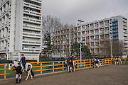 Club members enjoy the practice session - The Duchess of Cornwall, President, Ebony Horse Club, visits the charity's Brixton riding centre. The centre is celebrating its 21st birthday and its 6th year on this site. London 16 Feb 2017 .