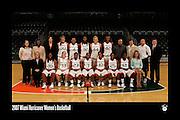2007 Miami Hurricanes Women's Basketball Team Photo