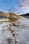 Palette Springs at dawn in Yellowstone National Park
