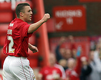 Photo: Rich Eaton.<br /> <br /> Bristol City v Crewe Alexander. Coca Cola League 1. 14/10/2006. Scott Brown of Bristol celebrates scoring his teams second goal