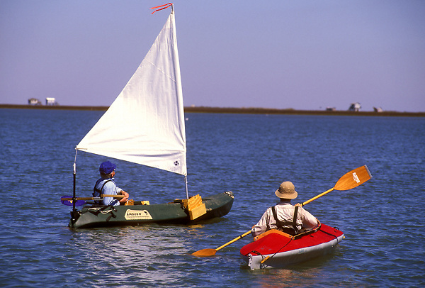 Stock photo of kayakers on the water