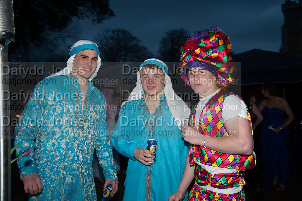JAMES COTTON; MAX RUSSELL; WILL ADAMS, Alice Manners 18th   birthday. Belvoir Castle, Grantham. 12 April 2013.