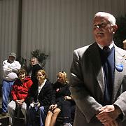 Candidate Gary Doetsch waits outside of the Carolina Beach Recreation Center. (Jason A. Frizzelle)