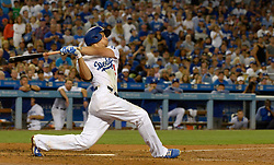 July 28, 2017 - Los Angeles, California, U.S. - Los Angeles Dodgers' Corey Seager watches his two run home run agains the San Francisco Giants in the seventh inning of a Major League baseball game at Dodger Stadium on Friday, July 28, 2017 in Los Angeles. (Photo by Keith Birmingham, Pasadena Star-News/SCNG) (Credit Image: © San Gabriel Valley Tribune via ZUMA Wire)
