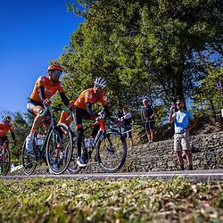 Sportfoto archive 2020 <br />World Championships cycling Imola<br />Dutch team Tom Dumoulin, Pieter Weening, Sam Oomen