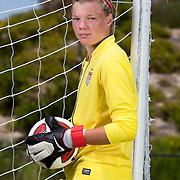 Jane Campbell, goalkeeper on the National Under 17 soccer team.