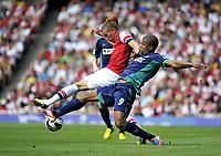 Football Premier League  Arsenal Vs Sunderland<br />Lukas Podolski and Fraizer Campbell