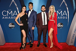 Thomas Rhett at the 51st Annual Country Music Association Awards hosted by Carrie Underwood and Brad Paisley and held at the Bridgestone Arena on November 8, 2017 in Nashville, TN. © Curtis Hilbun / AFF-USA.com. 08 Nov 2017 Pictured: Abby Law and Dan Smyers and Shay Mooney of Dan + Shay and Hannah Billingsley. Photo credit: MEGA TheMegaAgency.com +1 888 505 6342