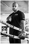 British super heavyweight boxer Frazer Clarke at the South Derbyshire Boxing Academy.