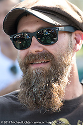 Period Modified's Matt Walksler at the Born Free pre-party and Harley-Davidson Stampede at Costa Mesa Speedway. Costa Mesa, CA. USA. Thursday June 22, 2017. Photography ©2017 Michael Lichter.