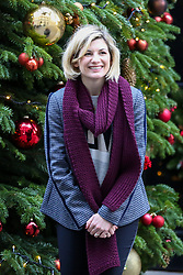 © Licensed to London News Pictures. 10/12/2018. London, UK. Jodie Whittaker, first female incarnation of the Doctor in BBC sci-fi series Doctor Who arrives in Downing Street for a Children Christmas reception in No 11 Downing Street, hosted by Philip Hammond. Photo credit: Dinendra Haria/LNP