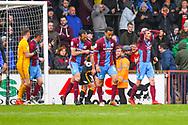 Scunthorpe United player react to a missed chance during the EFL Sky Bet League 1 match between Scunthorpe United and Bradford City at Glanford Park, Scunthorpe, England on 27 April 2019.
