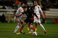 10.02.2013 SPAIN -  La Liga 12/13 Matchday 23th  match played between Rayo Vallecano vs Atletico de Madrid (2-1) at Campo de Vallecas stadium. The picture show Radamel Falcao Garcia (Colombian striker of At. Madrid)